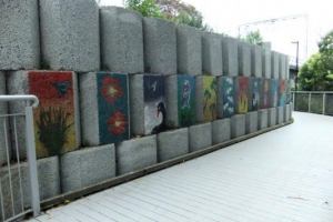stencil-mural-on-henderson-railway-embankment-made-by-young-people-of-mother-of-divine-mercy-group