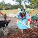 Stream Fairy Pam mulching